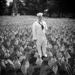 Memorial Day (LowerDarnley) Tags: boston holga massachusetts navy sailor bostoncommon 120s 20000flags