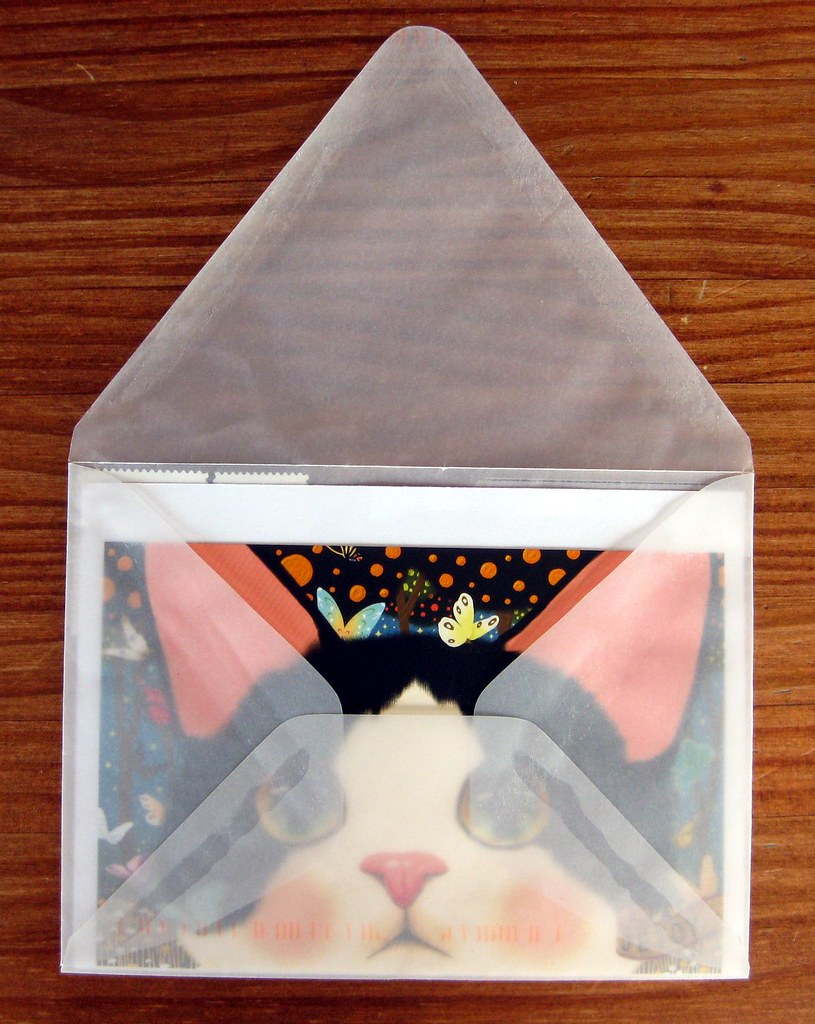 Jetoy cat postcard in glassine envelope