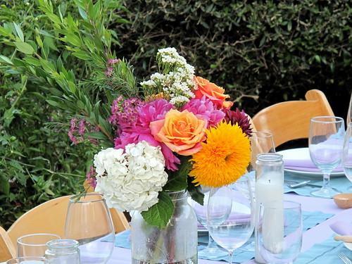 Peonies, hydrangeas, roses & sunflowers