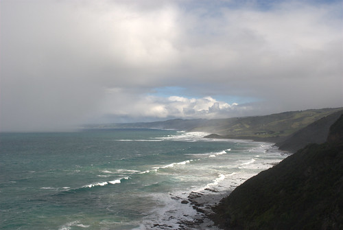 Mist & rain coming in on Great Ocean Road
