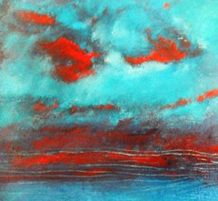 Painting Acrylic on Canvas (Dawn Brimicombe) Tags: blue red sea green painting cool acrylic blues breeze reds acrylics gardenflickrjune