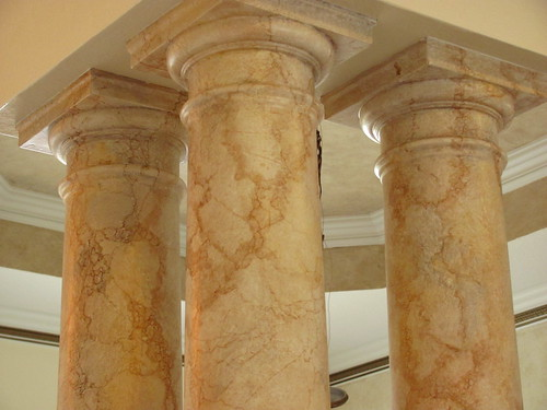 Faux Finishing Marble Columns