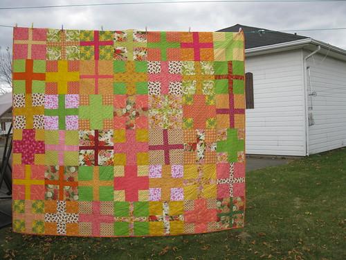 Custom queen quilt:front
