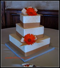 Square Ivory Wedding Cake (Graceful Cake Creations) Tags: flowers autumn wedding party orange classic cakes cake diamonds square shower blossom designer antique anniversary champagne traditional blossoms cream ivory pearls diamond special celebration reception butter gift gerbera quilting quilted romantic ribbon elegant bridal custom cowboyhat graceful occasion couture autumnal stacked gerberas creations ribbonsandbows buttercream dragee pearlized dragees elegantweddingcake giftboxcake mainpics gracefulcakecreations gracefulcakecreationscom