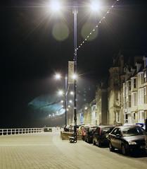 Prom night (Keive Murphy) Tags: wales night streetlamp aberystwyth promenade geotag constitutionhill