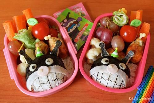 Bento for niece: Baikinman