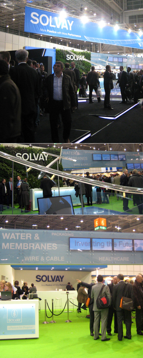Stand Solvay sur le salon K 2010, Düsseldorf