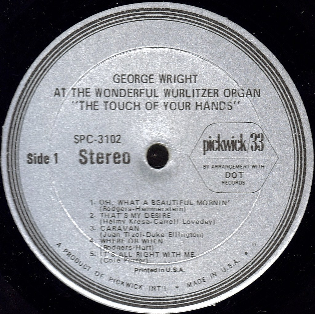 THE TOUCH OF YOUR HANDS label