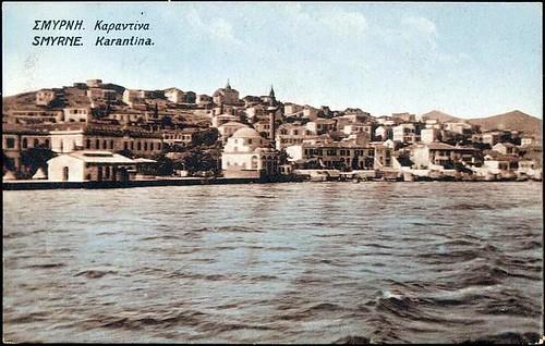Karpostallarda yangından önce İzmir, Karantina