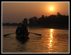 A BEAUTIFUL SUNSET AT RIVER RAVI,KAMRAN's BARA