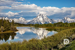 Oxbow Bend-Mt Moran Sunrise #361 (DBruner240) Tags: mt moran oxbow bend teton mountain range wyoming snake river reflections snow clouds ngc national geographic