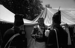 Discussions with the Enemy (.:Axle:.) Tags: brigadenapoleon grandtactical oldeforterie forterie ontario canada reenactment history napoleonicwars crownforces militaryhistory worldhistory parksniagara behindthescenes nationalhistoricsite fort fortification reenactors zeissikon contaxiiia zeissikoncontax rangefinder 135 35mm yellow12 zeissoptonsonnar115f50mm kodak kodaktrix400 trix 400tx asa250 kodakhc110 dilutiond hc110 bw blackwhite film filmphotography believeinfilm filmisalive filmisnotdead
