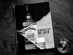 Jack Daniel's (ivanrojasflo) Tags: jack daniels honey whiskey black white magazine