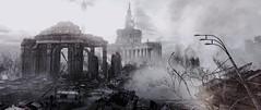"""Postcards from dead city"" # 1 (Pheabus2K9) Tags: metroredux metrolastlight moscow ruin postapocalypse city monochrome reshade"