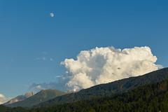 Bergstation Hoadlbahn - Tirol (Ernst_P.) Tags: aut himmel inzing mond österreich tirol toblaten wolke landschaft landscape moon luna nubes cielo sky cloud sony 16105mm