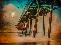 Pier_1 .. (Dare2drm) Tags: crisbuscaglialenz cheryltarrant distressedtextures pier ocean dock mer djfotos