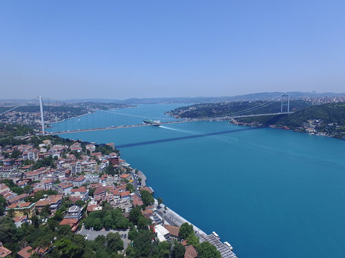 Fatih Sultan Mehmet Bridge from the air