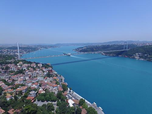 Fatih Sultan Mehmet Bridge from the air