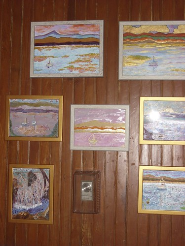 my paintings on exhibit in the Westport, NY Amtrack Station