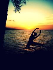 (Alexandra L.) Tags: light sunset ballet sunlight silhouette dance ballerina thought faceless