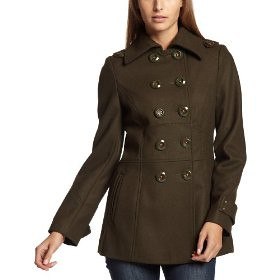 Miss Sixty Women's Contrast Thread Peacoat