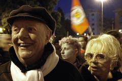 NoBDay (bata ez) Tags: people italy rome roma italia gente persone demonstration nobelprize manifestazione corteo dariofo piazzasangiovanni francarame premionobel nobday noberlusconiday 5dicembre2009 demontrationparade