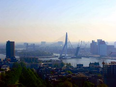 Erasmusbrug (Chris Bakker) Tags: rotterdam toren mei kpn 2008 erasmusbrug maastoren