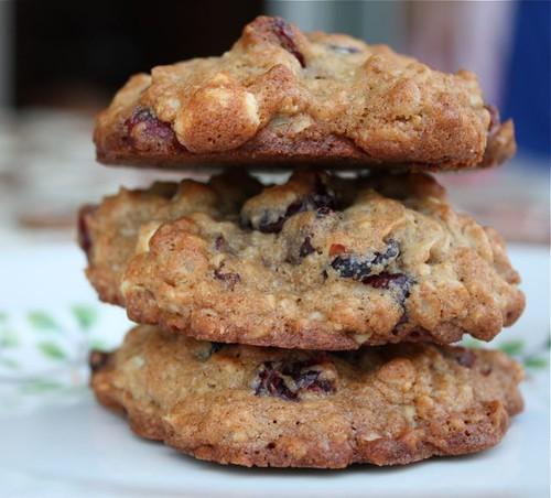 Cranberry White Chocolate Pecan Oatmeal Cookies