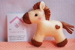 Cavalinho (Casinha de Pano) Tags: horse baby handmade felt feltro cavalo lembrancinha