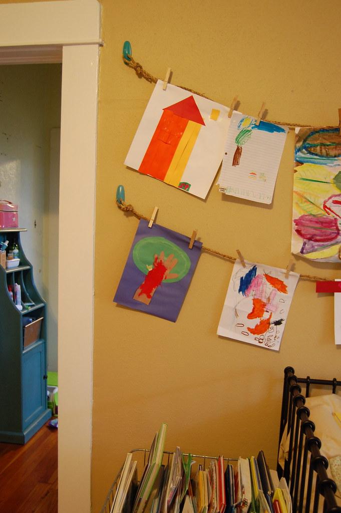 art display in kid's room