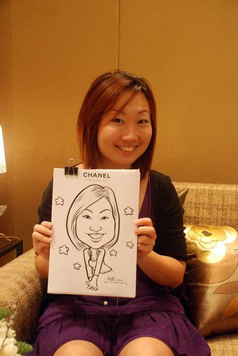 Caricature live sketching for Chanel Day 1 - 15
