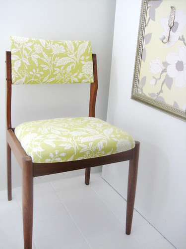 Viv's vintage newly recovered chair