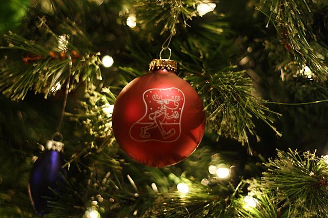 reindeer romp ornament