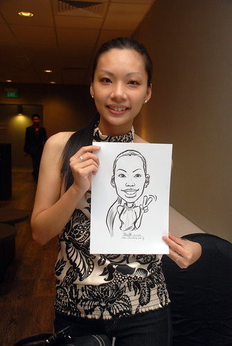 Caricature live sketching for Lonza - 3