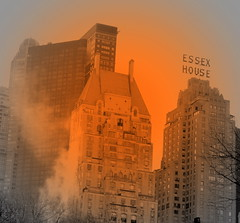 Where there is Smoke ... ~  ! (Holly Ford Brown) Tags: city newyorkcity fire smoke panic essexhouse thebigapple digitalenhancement viewfromcentralpark