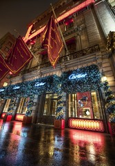 Cartier in New York during the Holidays (Stuck in Customs) Tags: christmas new york city nyc newyorkcity travel urban usa newyork cold color building wet architecture digital america shopping festive photography design coast blog high nikon holidays december commerce dynamic stuck manhattan united north cartier jewelry east sidewalk rainy boutique imaging states chic fifthavenue avenue raining northeast 5th range 2009 metropolitan hdr trey travelblog customs fifth decorated shoppe luxurious ratcliff stuckincustoms d3x