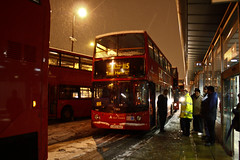 Canning Town (Nicobobinus) Tags: snow london buses suspended disruption newham e16 canningtown londonboroughofnewham