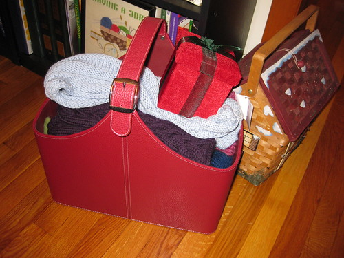 Christmas Knitting Basket