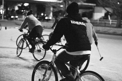 w-base / bike polo at komazawa park 22th, Dec. 2009