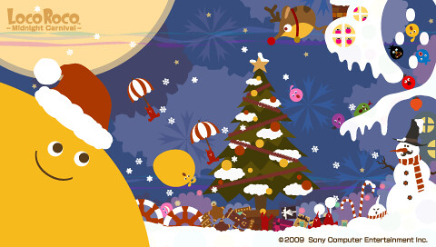 Loco Roco Midnight Carnival Xmas Wallpaper (PSP)