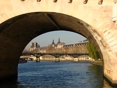 View through Pont Neuf (Sparky the Neon Cat) Tags: bridge paris france seine europe pont neuf iledefrance pontneuf