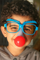 Happy B-day Somoud ;* (S.Aba-Alqloub ( Arikashika )) Tags: birthday blue shadow red baby sunglasses hair nose weird big curly kuwait yousif happybday kis habby somoud memorycornerportraits arikashika