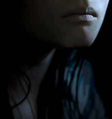 by the way, I Love You (bye bye ) Tags: blue selfportrait girl mouth dark soft shadows silent skin young lips cropped distance simple 2009 distant verysoft silences