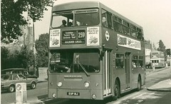 London Transport . DMS18 EGP18J . Tottenham , High Road .  30th-August-1979 (AndrewHA's) Tags: bus tottenham parkroyal londonbus londontransport route259 daimlerfleetline crg6 egp18j dms18