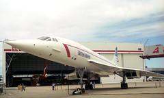 British Airways Concorde Jet (Registration G-BOAD) at Sydney Airport, New South Wales, Australia.