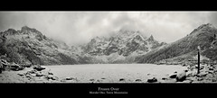 Frozen Over (edmundlwk) Tags: winter panorama white lake snow mountains alps landscape frozen europe stitch poland explore frontpage subzero zakopane slovak morskieoko tatramountains mnich canon450d tatrzańskiparknarodowy tatranationalpark rebelxsi mięguszowiecki tokina1116mm edmundlim rybipotokvalley