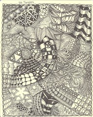 NFT-66 Tangles (molossus, who says Life Imitates Doodles) Tags: journal doodle tangle zentangle zendoodle zentangleinspiredart