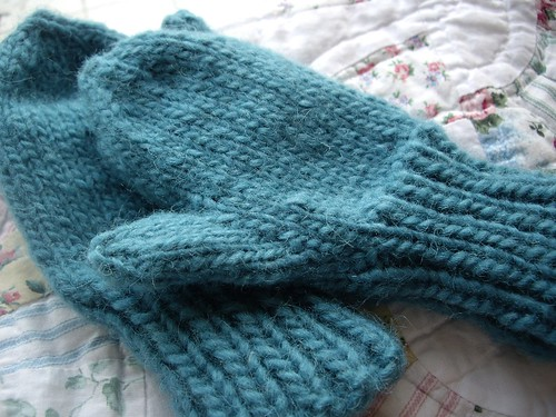 Free Knitting Patterns For Childrens Mittens : bollewangenhaptoet: chunky childrens mittens