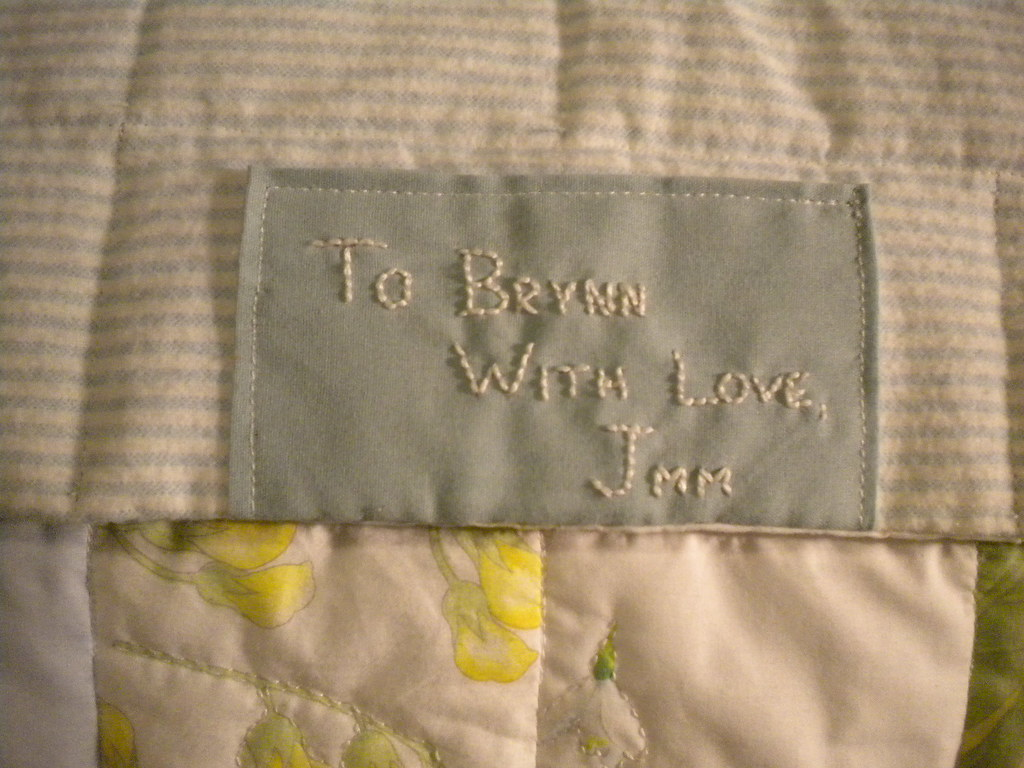 Baby Quilt Tag