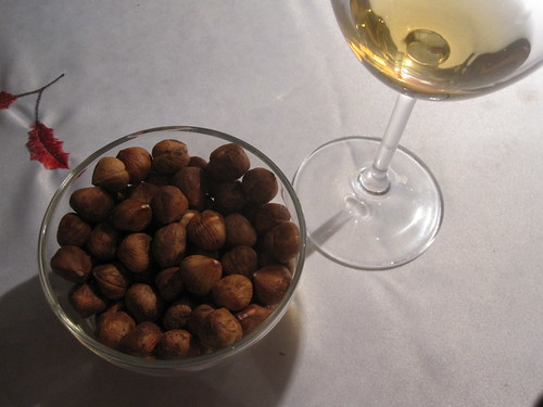 Sauternes with hazelnuts